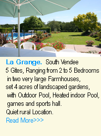 Featured property. La Grange gites with pools in the Vendee, Pays-de-la-Loire